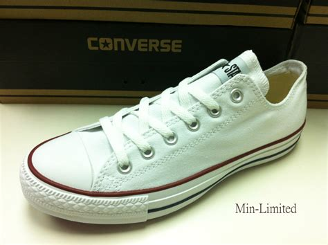 Converse Low Clasic List Merah converse classic chuck all low trainer sneaker ox new ebay