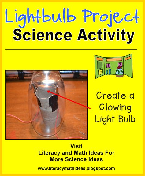 science project on light literacy math ideas stem in the classroom a lightbulb