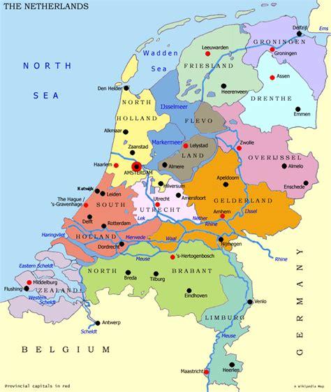 nederland regional map