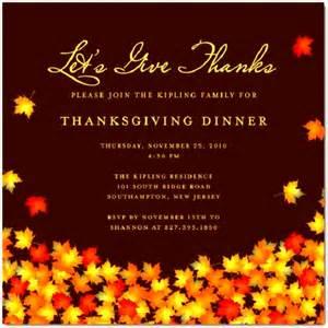 thanksgiving invitation templates sle thanksgiving invitation templates sle