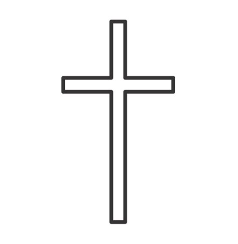 outline of cross tattoo simple cross outline clipart best