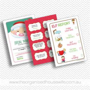 Elf on the shelf printables official warning elf report and elf on