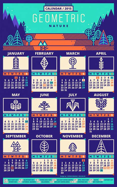 design calendar schedule 25 new year 2015 wall desk calendar designs for inspiration