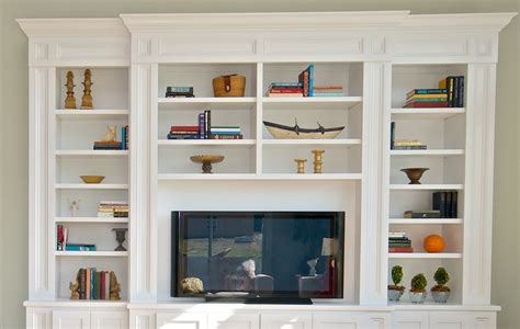 wall units stunning built in tv bookcase bookcases with