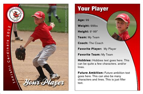 sports trading card template power sports photos custom sports trading cards