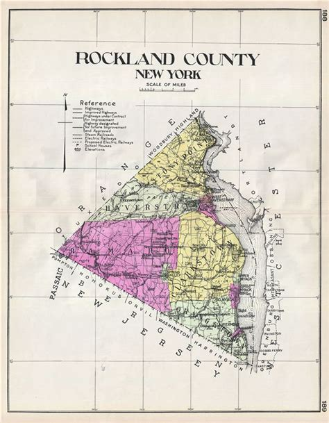 map of rockland county new york rockland county new york geographicus antique maps