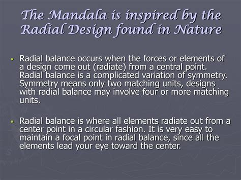 design elements radiate from a center point ppt exploring the mandala powerpoint presentation id