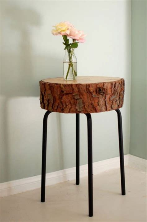 reclaimed tree trunk tables   eco friendly home