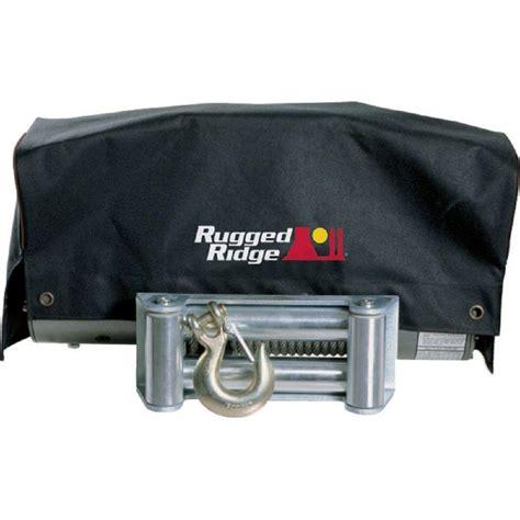 rugged ridge winches rugged ridge 8 500 lbs x 10 500 lbs winch cover 15102 02 the home depot
