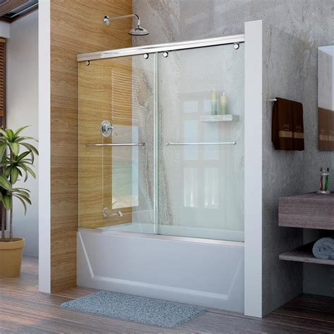 bathtub sliding doors lowes shop dreamline charisma 60 in w x 58 in h frameless
