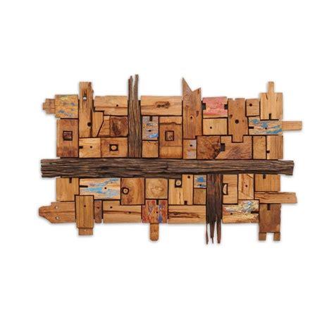 wanddeko kansas aus recyceltem holz wohnen de - Wanddeko Holz