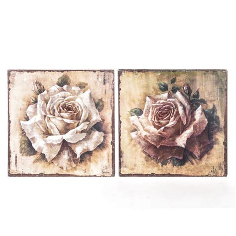 vintage rose home decor shabby chic rose signs stunning wall plaques pink or cream
