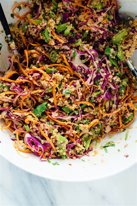 quinoa salad recipes crunchy thai peanut quinoa salad cookie and kate