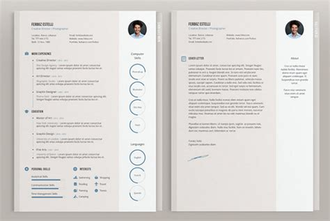 illustrator resume template 50 beautiful free resume cv