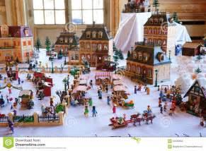 Livingroom Themes ville de playmobil en hiver photographie 233 ditorial image