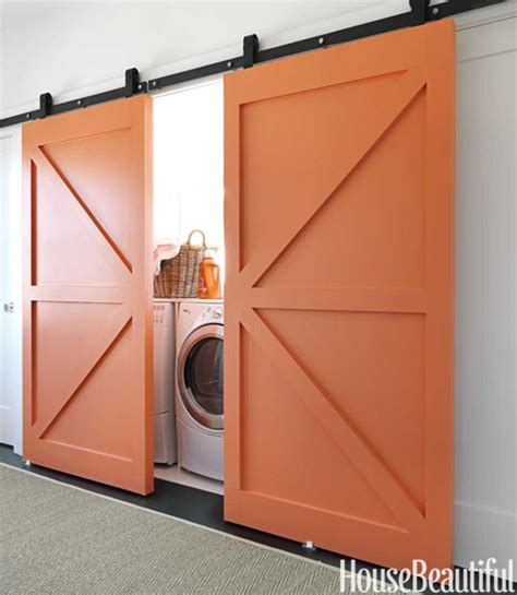 Interior Laundry Room Doors Interior Barn Doors Contemporary Laundry Room Benjamin Fresno House Beautiful