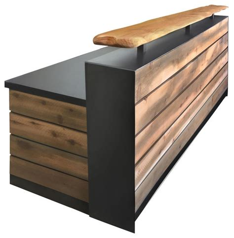 Wood Reception Desks Reclaimed Distressed Wood Reception Desk 4 Rustic Desks And Hutches By Design