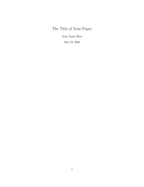 How To Make A Title For A Research Paper - how to make a title page for a research paper mla