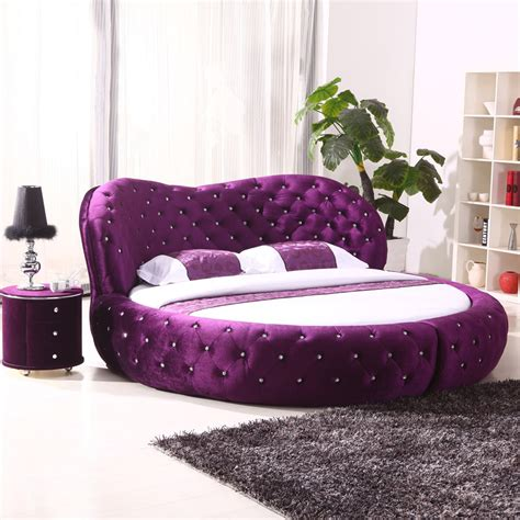 white purple cheap king size hot sell  beds  sale