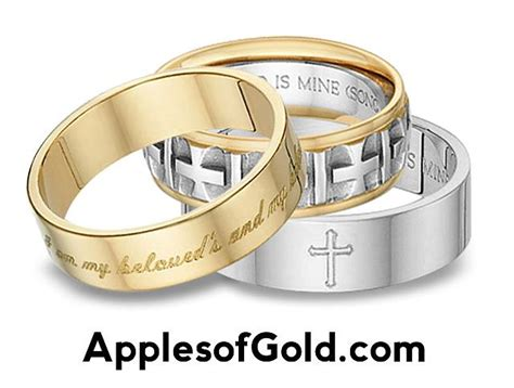 wedding bands with bible verses bible verse wedding bands dual symbolism applesofgold