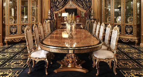 great expensive wood dining tables european  italian