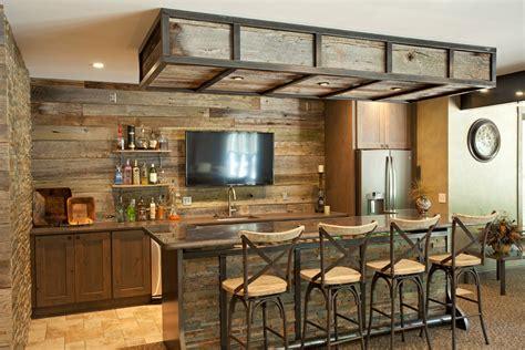 bar railing ideas home bar rustic with brown countertop