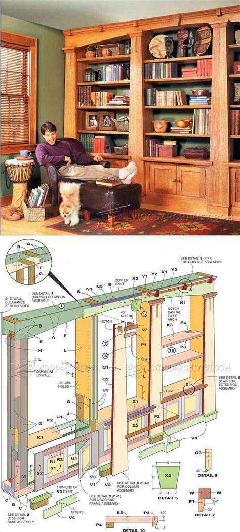 do it yourself built in bookcase plans best 20 bookcase plans ideas on build a