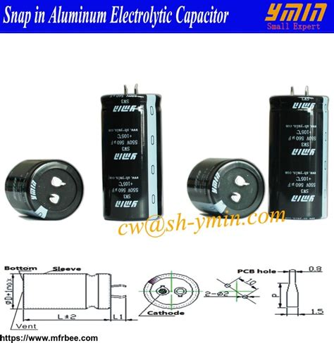 electrolytic capacitor heat refrigerator capacitor snap in aluminum electrolytic capacitor for air conditioner and heat