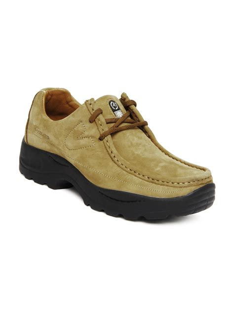 myntra woodland brown leather casual shoes 355610