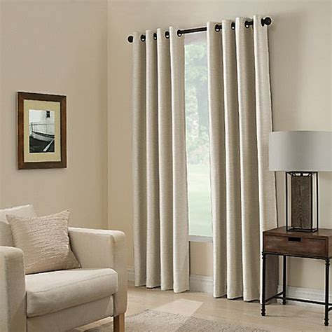 room darkening window buy paradise 84 inch room darkening window curtain panel in ivory from bed bath beyond