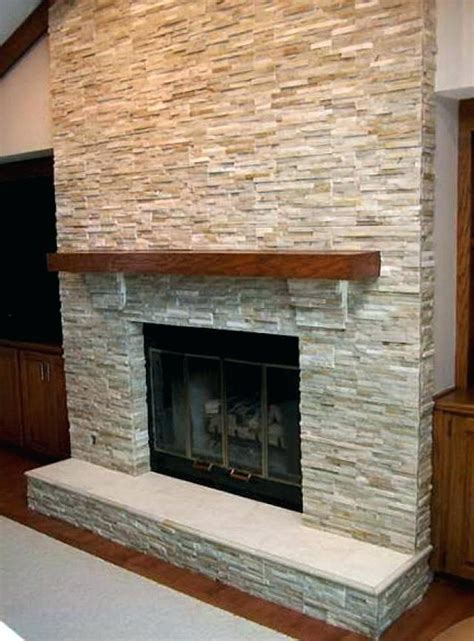 stacked veneer fireplace tile for decorations 3