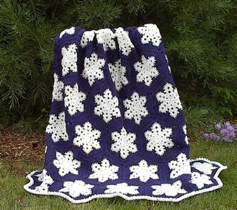 Crochet Pattern Snowflake Afghan | grandmother s pattern book