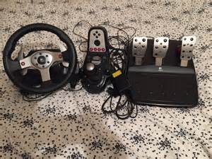 G25 Steering Wheel For Sale Logitech G25 Racing Wheel Pedals And Gear Shifter Ebay