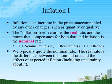 Inflation Ppt In Mba by Finance All Ppt Mba Finance