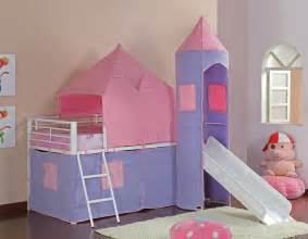 Castle Bunk Bed With Slide Princess Castle Loft Bed With Slide Home Ideas Designs