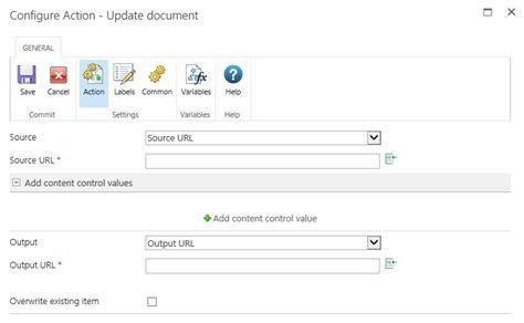 nintex workflow documentation update document