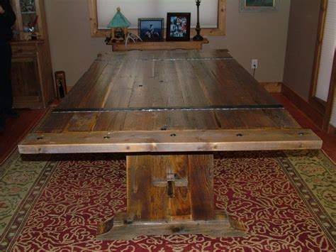 barnwood dining room tables hand crafted barnwood dining table by bluebuck woodworking