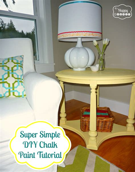 diy chalk paint tutorial mellow yellow diy chalk paint side table the happy housie