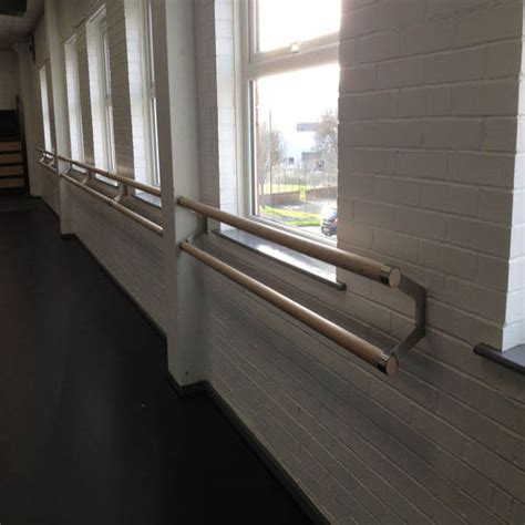 ash wood wall mounted ballet barres double  metre