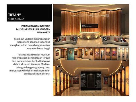 design interior binus perancangan interior museum seni rupa modern di jakarta