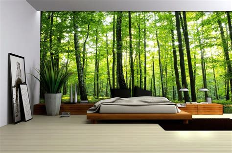 bedroom forest wallpaper murals  homewallmuralscouk