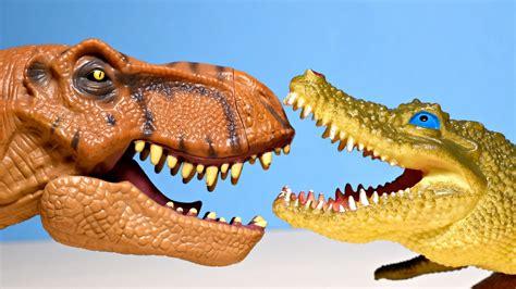 shark dinosaurs crocodile  rex dinosaur sharky toy alligator youtube