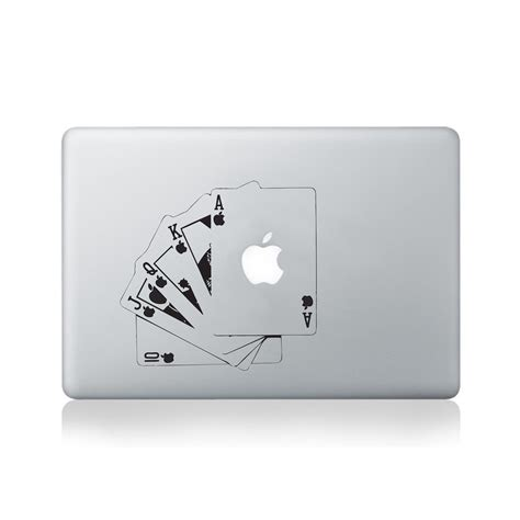 Decal Sticker Macbook Apple 10 13 15 Windows apple royal flush cards vinyl decal for macbook 13 15