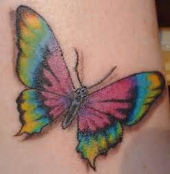 colorful butterfly tattoos a bright and colorful design of a tie dye butterfly