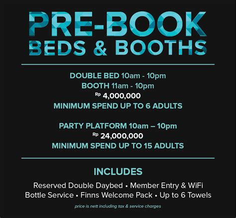 Booth Mba Run Pre Existing Business by Pre Book Beds And Booths Finns Club Bali