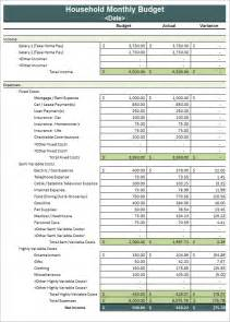Free Budgets Templates Household Budget Template 8 Download Free Documents In