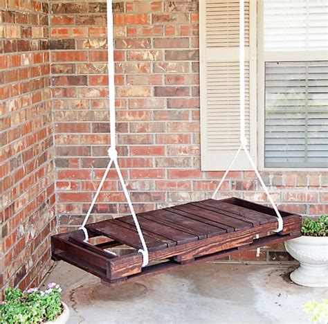 diy pallet swing 20 epic ways to diy hanging and swing chairs home design