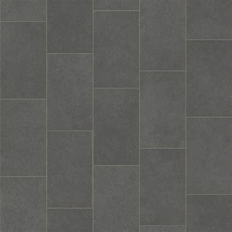 Pacific Vinyl Flooring   Grey Oblong Tile Design