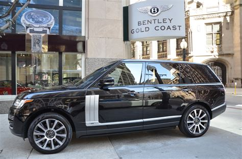 black and gold range rover 2014 land rover range rover autobiography lwb stock