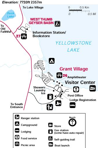 yellowstone national park lodging map grant lodging area yellowstone national park